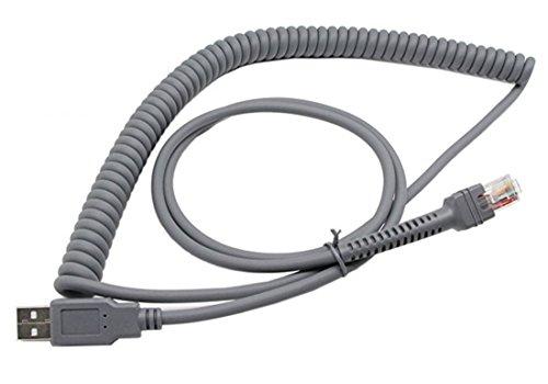 cerrxian Symbol LS2208–USB-Kabel, sinloon USB A zu RJ45gewickelten Spiral Verlängerung Kabel, Motorola Symbol Barcode Scanner ls2208ap LS1203LS4208LS4278DS6707DS6708USB-Kabel, (3, 3m)
