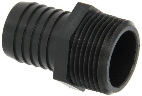 Dixon Valve PPN88 Polypropylene Shank/Water Fitting, Tuff-Lite King Combination Nipple, 1