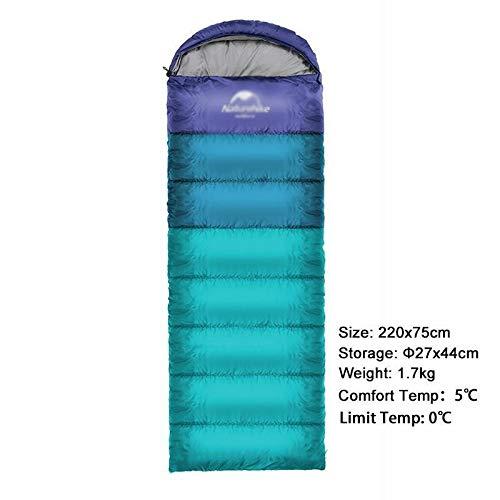 Sac de Couchage pour Camping en Plein air Ultra léger pour Double Personne, Sac de Couchage Portable en Plein air Sac de Couchage Nemo (Couleur : Bleu 1,5 kg)