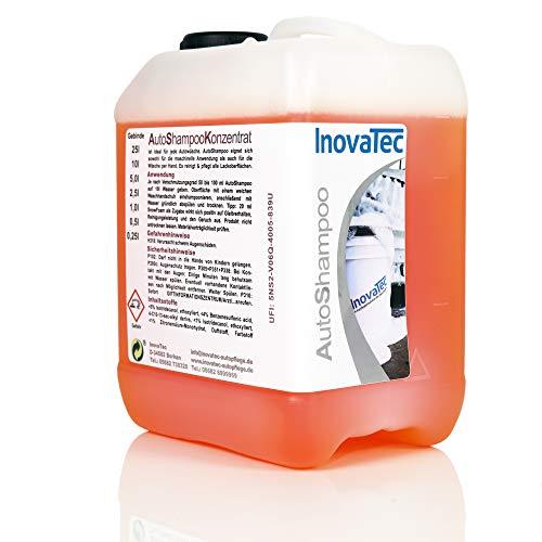 Inovatec Profi Autoshampoo Konzentrat 2,5L – Hochwirksames Autoshampoo für alle Oberflächen am Auto - PH neutral mit Abperleffekt