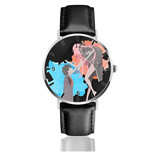 Los niños Miran Reloj Pulsera niño Historieta 3D Impermeable Anime Darling en The FRANXX Pantalla Redonda 38mm Batería de botón Poder