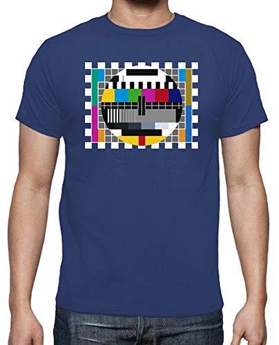 latostadora - Camiseta Carta de Ajuste para Hombre Azul Royal L