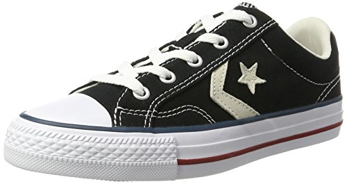 Converse Lifestyle Star Player Ox Canvas, Zapatillas de Deporte Unisex Adulto, Negro (Black/Milk 009), 42 EU