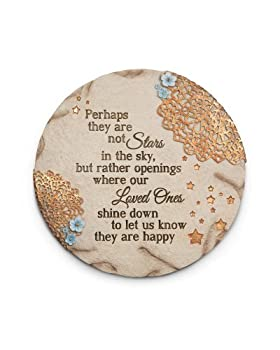 Pavilion Gift Company 19058 Light Your Way Memorial Garden Stone 10-Inch Stars in The Sky