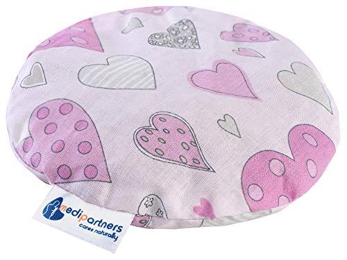 Kirschkernkissen Wärmekissen Körnerkissen für Babys 180g rund 15cm Öko Natur 100{752a0d57781ec3c84b09292d799f6826b120989f4ef6b82a32d6b68770854e4b} Baumwolle Medi Partners Wärme + Kältetherapie Massagetherapie (rosa Herzen)