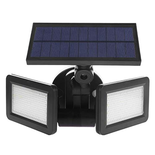 goen Dual Head Solarlicht Radarsensor Scheinwerfer Wasserdichtes Solar Gartenlicht Super Bright Yard Flood LED...