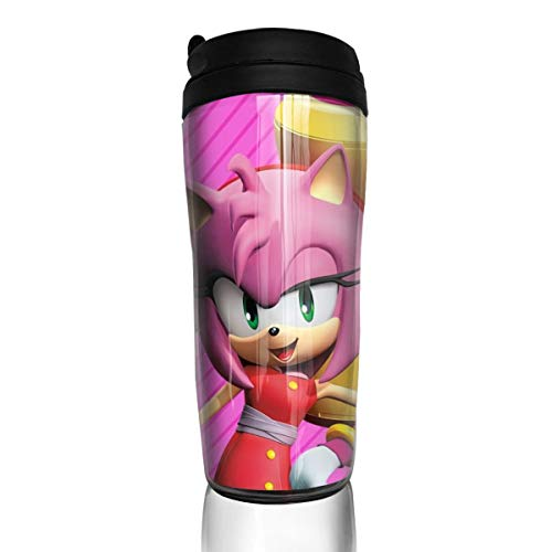 JamesAFlannigan Water Cup Sonic Boom-Amy Rose Anime Style 12 Ounce (350 Ml) Coffee Cup, Teacup, Travel Mug, with Sealing Lid