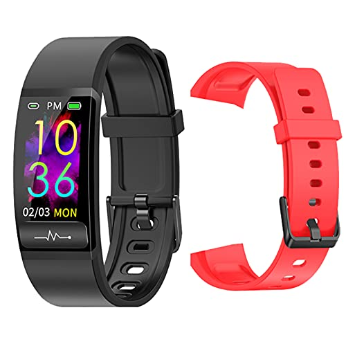 QAK Pulsera Inteligente M8 PPG ECG Medición De La Presión Arterial con Monitor De Ritmo Cardíaco Smart Watch H66 Actividad Fitness Tracker Pulsera para Android iOS,F
