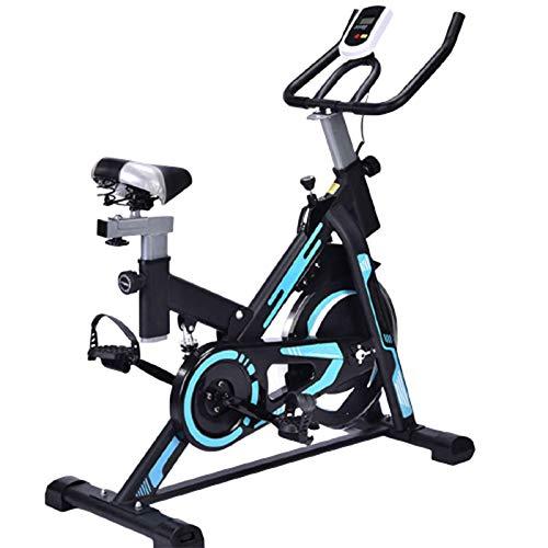 Gycdwjh Bicicleta de Spinning,con Pantalla LCD, Pulsómetro Resistencia Variable Asiento Ajustabl Indoor para la Oficina en Casa Ejercicio Aeróbico