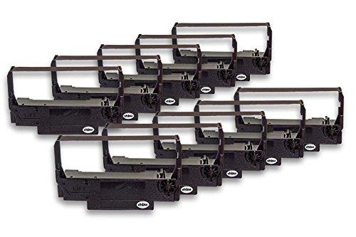 vhbw 10x Cinta de tinta de nailon para su impresora matricial Epson TM-U210D, TM-U220A, TM-U220B, TM-U220D como ERC-30, ERC-34, ERC-38B.