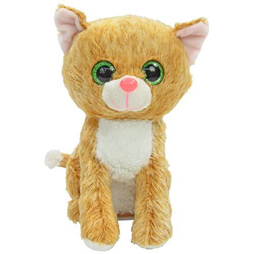 Kögler 75951 - Laber Katze Tina, Labertier mit Aufnahme- und Wiedergabefunktion, plappert alles witzig nach und bewegt sich, ca. 19 cm groß, ideal als Geschenk für Jungen und Mädchen