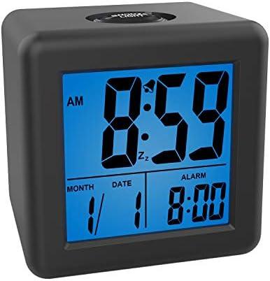 Plumeet Digital Alarm Clocks Kids Clock with Snooze and Blue Nightlight Easy Setting Travel product image