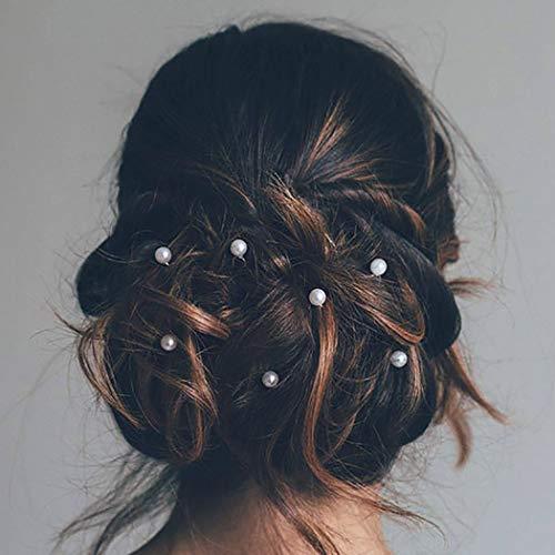 Unicra Mariage Argent Épingles À Cheveux De Mariée Perle De Mariée Accessoires De Cheveux pour Mariées et Demoiselles d'Honneur Paquet de 10 (argent)