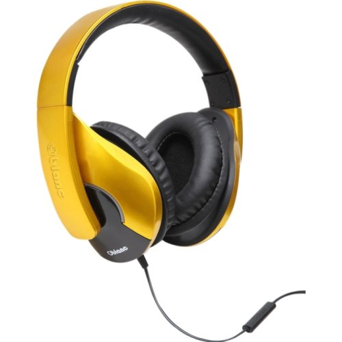 SYBA OG-AUD63070 / Multimedia Oblanc SHELL200 Saffron Yellow Stereo Headphone W/in-line Microphone
