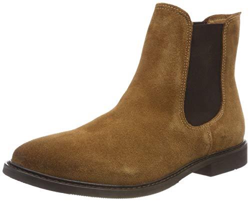 SELECTED FEMME Damen SLFBELLA Suede B Chelsea Boots, Braun (Glazed Ginger Glazed Ginger), 39 EU