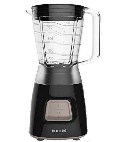 Philips Daily Collection Blender, 1.25 Litre, 450W, Black, HR2052/91