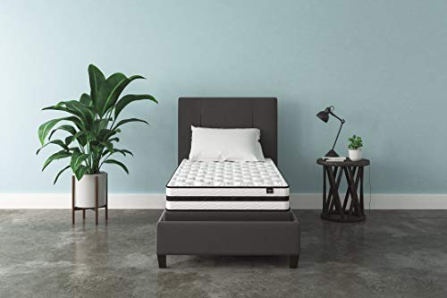 Signature Design by Ashley - 8 Inch Chime Express Hybrid Innerspring - Firm Mattress - Bed in a Box - Twin - White