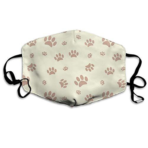 Houity stofdicht wasbaar masker, achtergrond met hond poot print en bot, zacht, ademend, wasbaar, knop verstelbare masker, geschikt voor mannen en vrouwen maskers