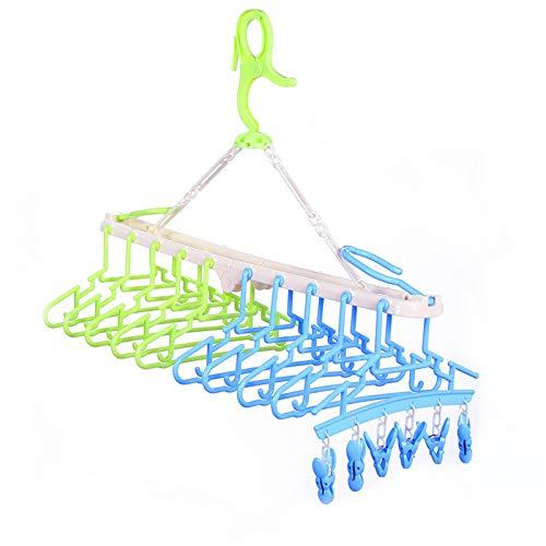 10連ハンガー 赤ちゃん ハンガー キッズ ベビーハンガー ハンガーラック 折り畳み 取り外し 6個 クリップ付き