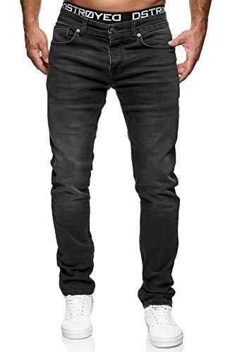 MERISH Jeans Herren Slim Fit Jeanshose Stretch Denim Designer Hose (33-32, 504-4 Schwarz)