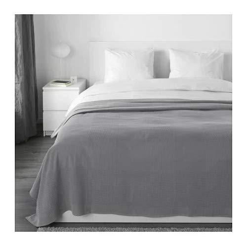 INDIRA IKEA Tagesdecke in grau; 100% Baumwolle; (230x250cm)