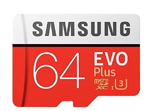 CDKJ Tarjeta de Memoria Samsung 64GB Tarjeta SD Samsung–Tarjeta Micro SD EVO Plus–64GB con Adaptador SD–Clase 10