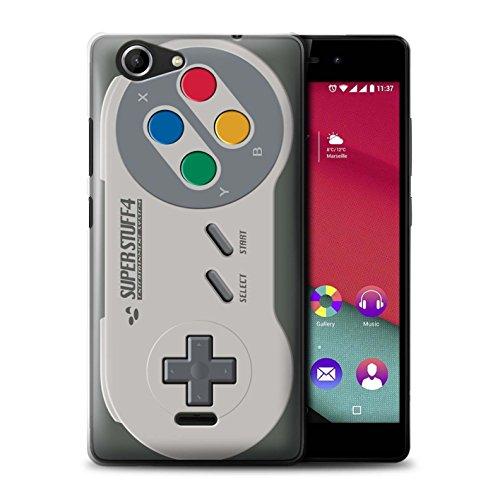 Hülle Für Wiko Pulp Fab 4G Spielkonsolen Super Nintendo Design Transparent Ultra Dünn Klar Hart Schutz Handyhülle Case
