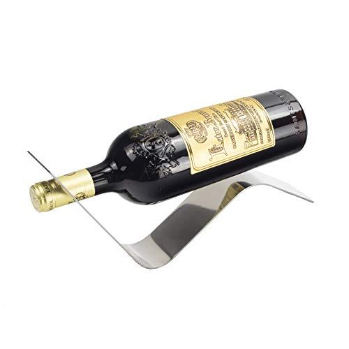 Y-Nut Stainless Steel Wine Bottle Holder, Decorative Single Bottle Stand Serving Display Wine Rack, Stylish Wine Bottle Organizer Great for Wine Lovers, WBHSS-02