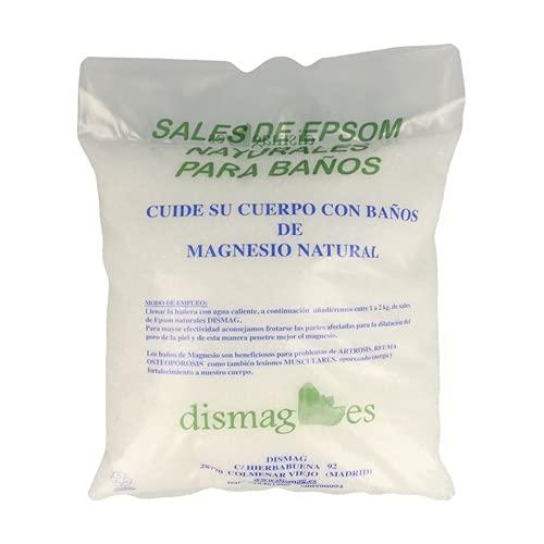Epsom Sal de Baño Bolsa 4kg 100% Puro & Natural Epsom Sal Sulfato de magnesio concentrado Baño y Cuidado Personal Relajación muscular