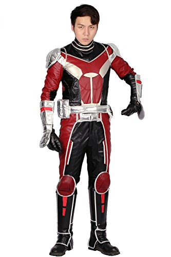 Xcoser Updated Deluxe Ant Man Costume Outfit Suit for Adult Halloween Cosplay XL
