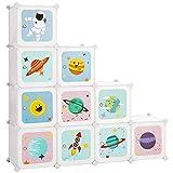 SONGMICS Estantería Modular Infantil de 10 Cubos, Organizador para Niños,...
