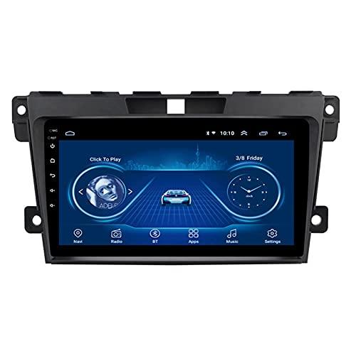 Nav Car Radio Player Navigation - Aplicable para Mazda CX-7 2007-2015, Auto Speaker Video Audio Bluetooth 9 Pulgadas Android Car Multimedia Stereo GPS Media FM,4 Core-WiFi: 4+64G