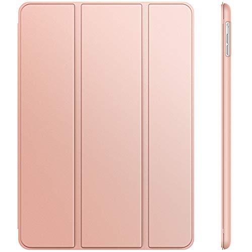 JETech Hülle Kompatibel iPad Air (2013 Modell), Schutzhülle mit Ständer Funktion & Auto Schlaf/Wachen (Roségold)