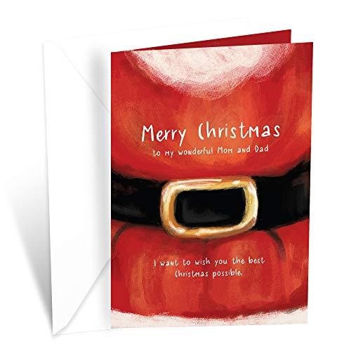 Prime Greetings Christmas Card Mom and Dad