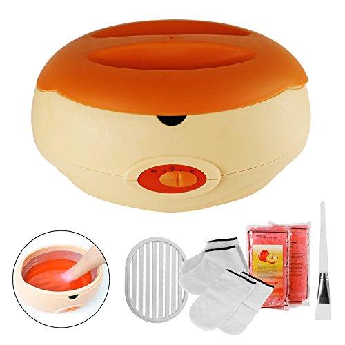 Paraffinbäder Wachsbad für Hände und Füße mit Zubehör, versorgt die Haut mit Feuchtigkeit paraffin wachsbad gerät - Orange