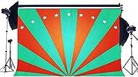 HD 男の子誕生日背景7X5FTビニールサーカスショーの背景多色ストライプ光線きらきらきらきらリトルスター壁紙漫画写真の背景女の子写真スタジオ小道具KX992