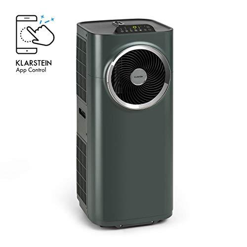 Klarstein Kraftwerk Smart - 10K Klimaanlage mobil, 3-in-1: Kühlung, Entfeuchtung, Ventilation, 10.000 BTU / 2,9 kW, Energieeffizienzklasse A, WiFi: Steuerung per App, Raumgröße: 29-49 m², anthrazit