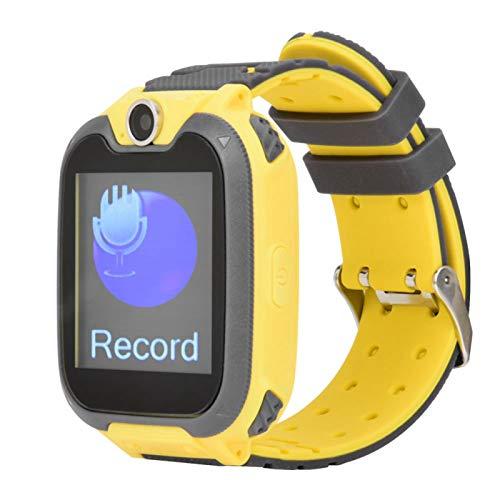 Jacksing Reloj electrónico, Tomando Fotos Reloj con teléfono para niños, fácil de Usar para niños(Yellow)