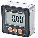 otutun Inclinómetro digital Transportador Base electrónico Caja 0-360 °, Buscador De ángulos Digital con base magnética, Medidor de ángulo para Carpintería Mantenimiento de Automóviles