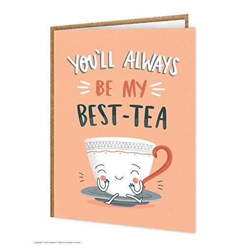 Funny Humorous Best Tea Birthday Greetings Card