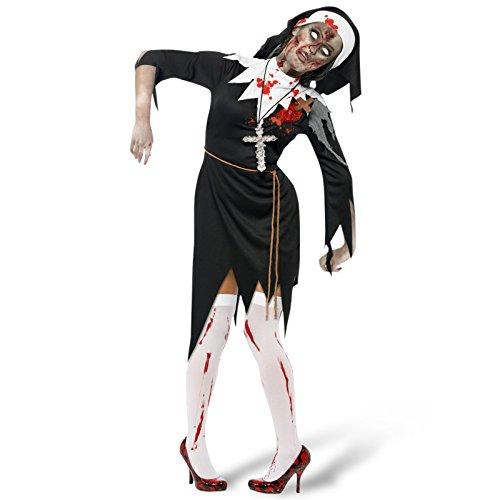 Elbenwald Zombie Nonne Kostüm Damen - L