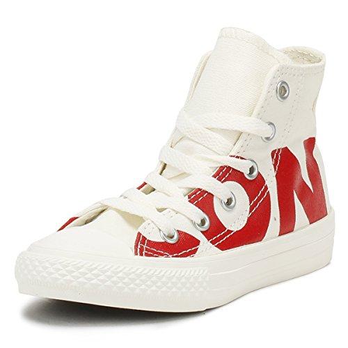 Converse Chuck Taylor Ctas Hi Canvas, Zapatillas altas Unisex niños, Multicolor (Natural/Enamel Red/Egret 100), 29 EU