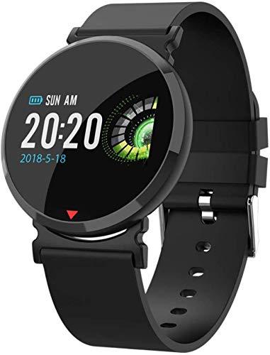 Reloj inteligente Bluetooth de salud con frecuencia cardíaca, presión arterial, monitoreo de oxígeno en sangre, resistente al agua, recordatorio de llamadas, reloj Android e iOS, color naranja y negro