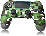 YU33 Wireless Controller, Compatible with PS- 4 Co emote Joystick Gamepad Intended for Play-Station 4 System Controller with Charging Cable and Double Shock Green Camo,2021,New