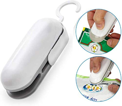 Bag Sealer Heat Bag Sealing Machine Portable Handheld Plastic Bags Sealer, Best Vacuum Sealers For Food, Snap, Cookies, Kitchen