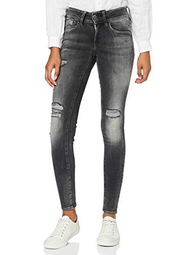 G-STAR RAW Damen Jeans Lynn Mid Waist Skinny Jeans, Blau (Blue Faded Raw Denim), 32W / 32L