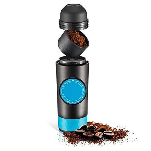 ZJZ Macchina da caffè da Viaggio, Macchina per caffè Espresso elettrica Portatile 2 in 1 Capsule e macinato Espresso Mini Espresso Automatico