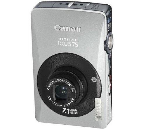 Canon IXUS 75 Digitalkamera (7 MP, 3-fach opt. Zoom, 7,6cm (3 Zoll) Bildschirm) silber/schwarz