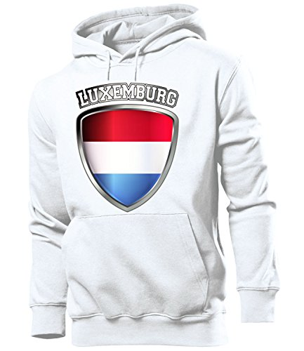 Luxemburg Luxembourg Lëtzebuerg Fussball Fanhoodie Fan Männer Herren Hoodie Pulli Kapuzen Pullover Fanartikel Trikot Look Geschenke flagge zubehör fahne fußball Fanartikel Oberteil flag artikel outfit