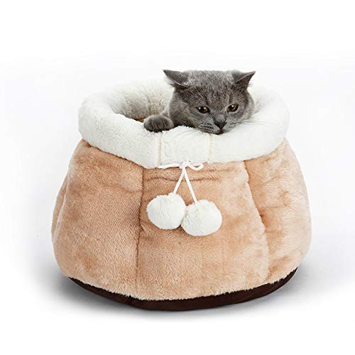 Flooring I Warm Foldable Machine Washable pet Cats and Dogs to (Color : Gray, Size : 38cmX38cmX30cm)